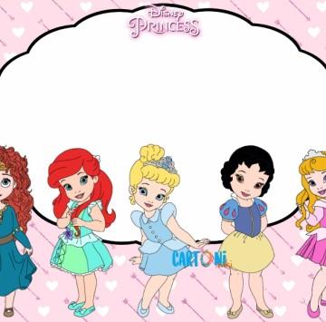 Invito Compleanno Principesse Disney - Cartoni animati