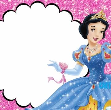 Invito compleanno Biancaneve Disney Princess - Cartoni animati