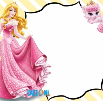 Invito Aurora e Beauty Disney Princess - Cartoni animati