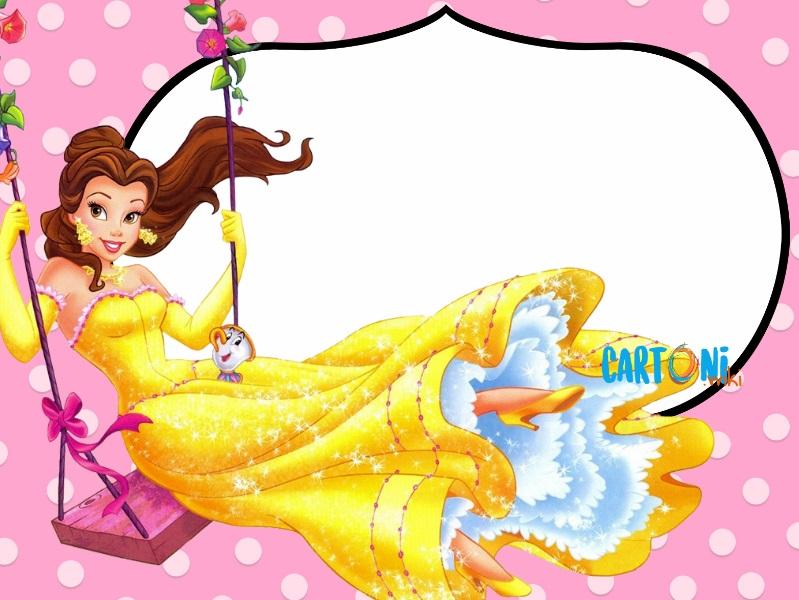 La bella e la Bestia invito compleanno - Cartoni animati