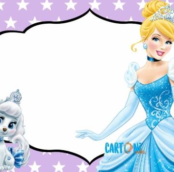 Invito Cenerentola principessa Disney - Cartoni animati