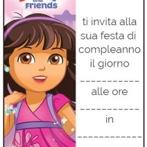 Gli inviti di Dora and Friends - Inviti feste compleanno
