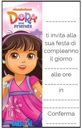 Gli inviti di Dora and Friends