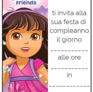 Gli inviti di Dora and Friends - Cartoni animati