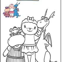 Immagini Dottoressa Peluche da colorare gratis - Stampa e colora