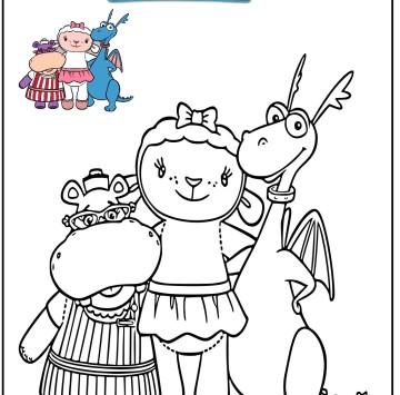 Immagini Dottoressa Peluche da colorare gratis - Cartoni animati