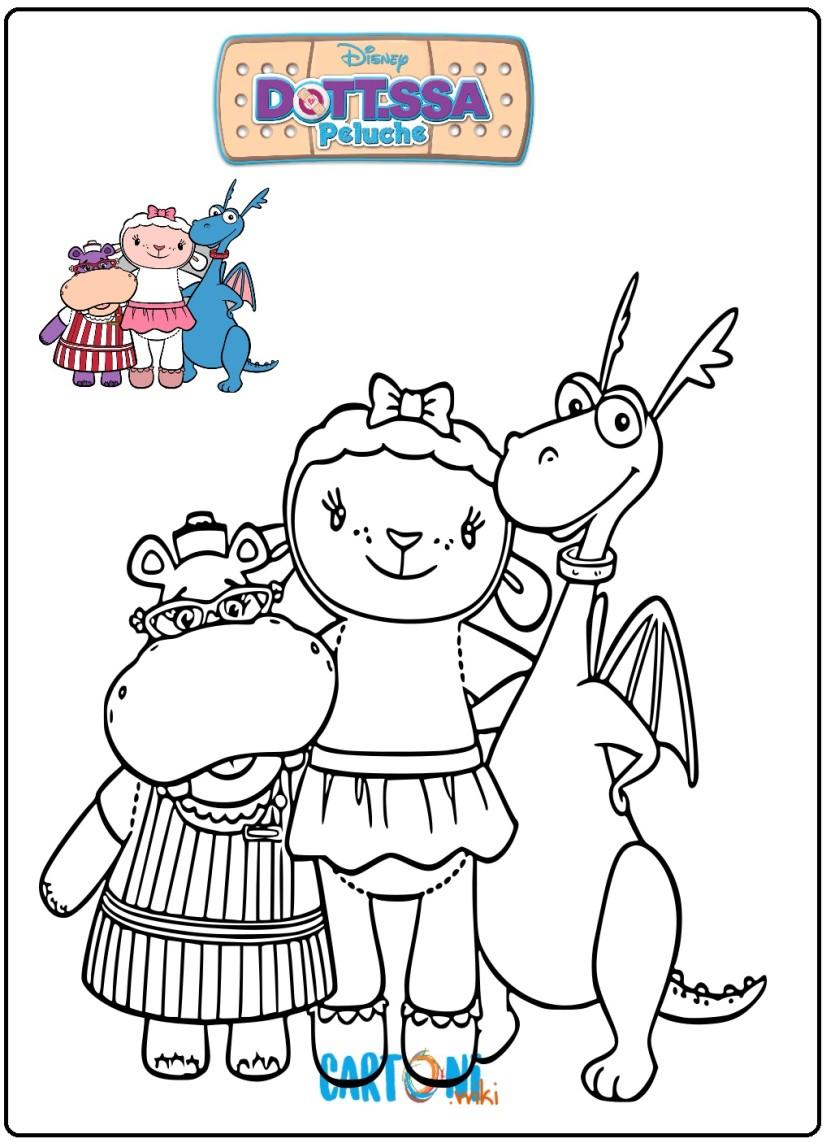 Immagini dottoressa peluche da colorare gratis for Disegni da colorare dottoressa peluche gratis
