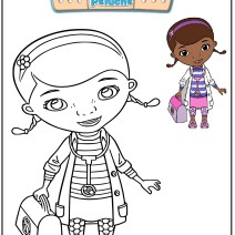 Dottoressa Peluche Disegni da colorare - Disegni da colorare
