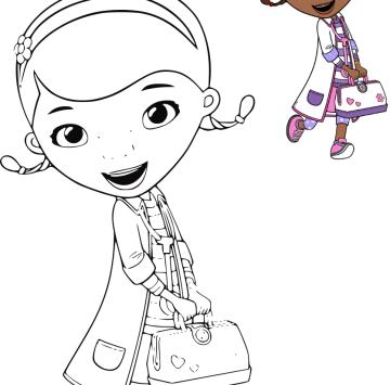 Dottoressa Peluche Disegni Da Colorare Cartoni Animati