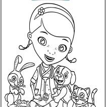 Colora Dottoressa peluche e i suoi amici animali - Stampa e colora