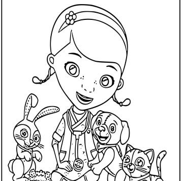 Colora Dottoressa peluche e i suoi amici animali - Cartoni animati