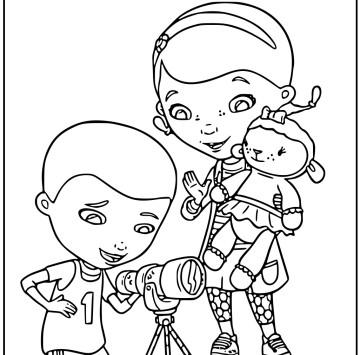 Disegno Dottoressa Peluche da colorare - Cartoni animati