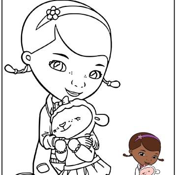 Stampa e colora Dottoressa Peluche - Cartoni animati