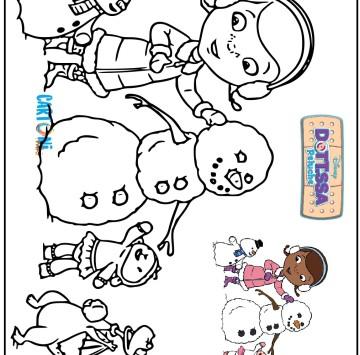 Disegno dottoressa peluche - Cartoni animati
