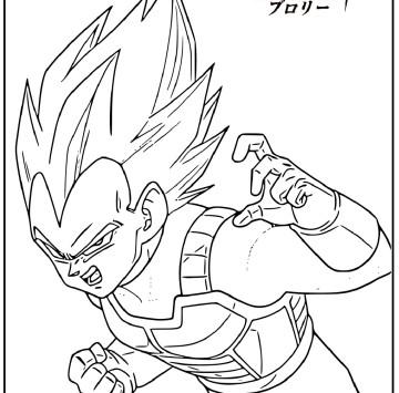 Dragon Ball Super Broly coloring pages - Cartoni animati