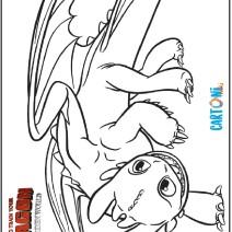 Sdentato da colorare Dragon Trainer il mondo nascosto - Disegni da colorare