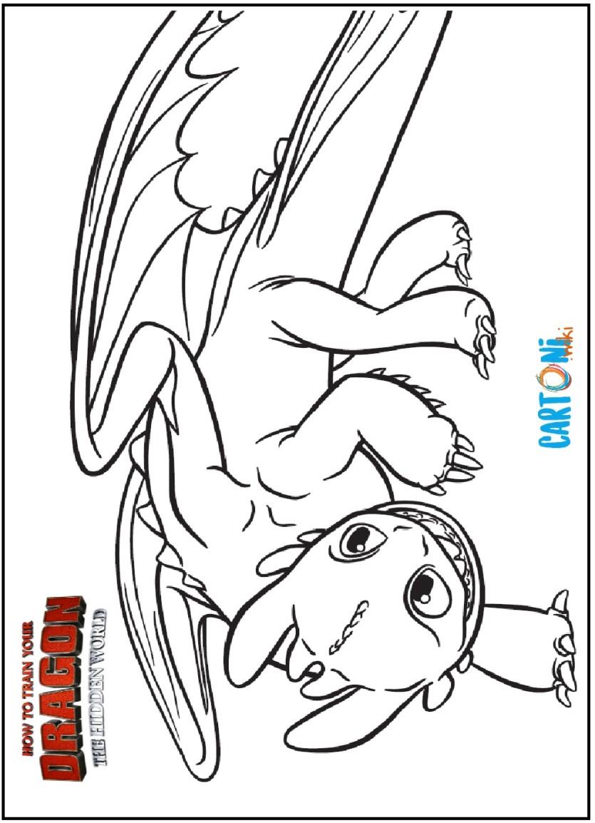 Sdentato Da Colorare Dragon Trainer Il Mondo Nascosto Cartoni Animati