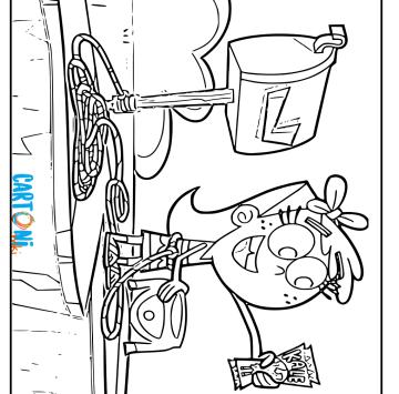 Disegno Chloe di Due Fantagenitori - Cartoni animati