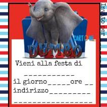 Invito festa compleanno Dumbo 2019 - inviti compleanno online