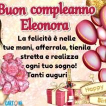 Auguri di buon compleanno Eleonora - Eleonora