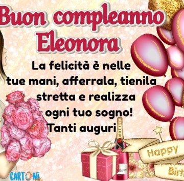 Auguri di buon compleanno Eleonora - Cartoni animati