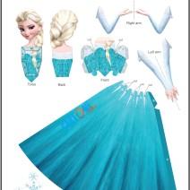 Elsa bambola di carta 3d - Attività per bambini