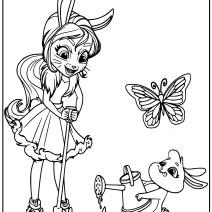Enchantimals Bree Bunny e  Twist disegno da coloarae - Stampa e colora