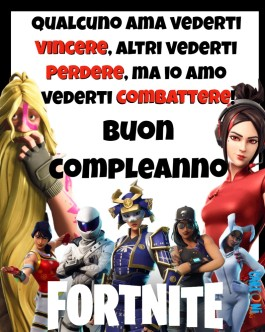 Buon compleanno per giocatore Fortnite
