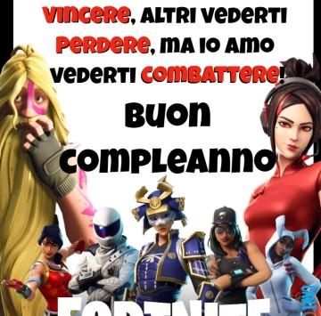Buon compleanno per giocatore Fortnite - Cartoni animati