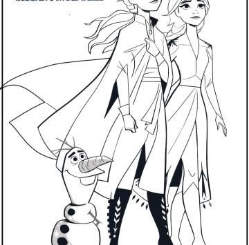 Frozen 2 disegni da colorare Anna Elsa e Olaf - Cartoni animati