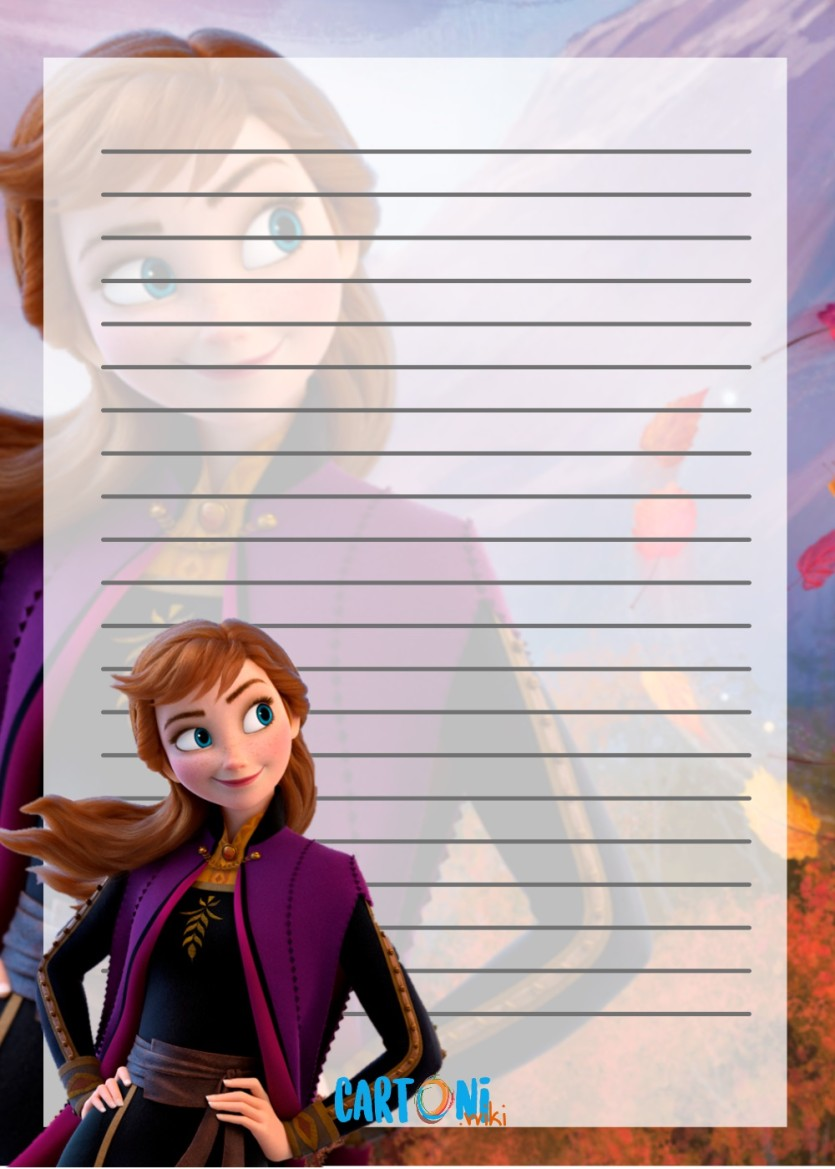 Frozen 2 carta da lettere - Cartoni animati