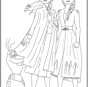 Frozen 2 disegni da colorare - Cartoni animati