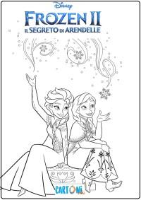 Colora Anna ed Elsa di Frozen 2 - Disegni da colorare