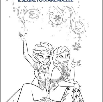 Colora Anna ed Elsa di Frozen 2 - Cartoni animati