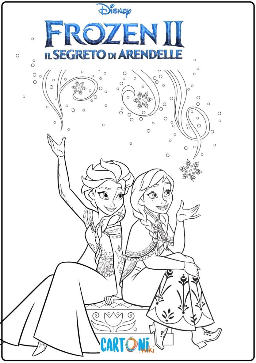 Colora Anna Ed Elsa Di Frozen 2 Cartoni Animati