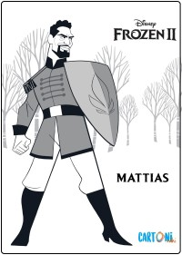 Tenente Mattias Frozen 2 - Disegni da colorare