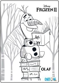 Olaf Frozen 2 disegno da colorare - Disegni da colorare