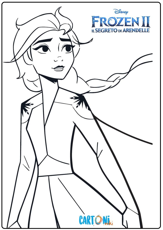 Frozen 2 Elsa Da Stampare E Colorare Cartoni Animati
