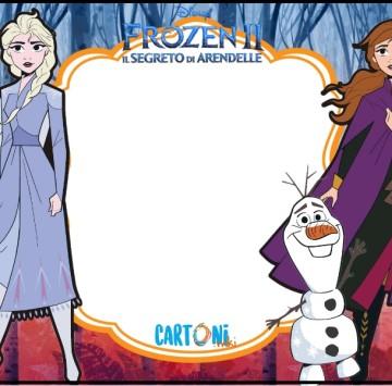 Inviti festa compleanno bambini Frozen 2 - Cartoni animati