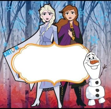 Etichette quaderni Frozen 2 - Cartoni animati