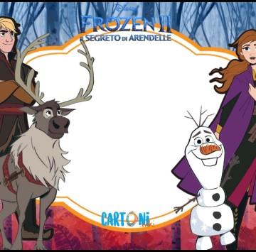 Frozen 2 inviti festa compleanno bambini - Cartoni animati