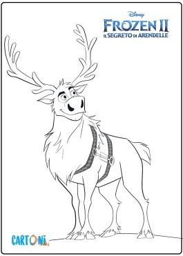 Frozen 2 Sven la renna da colorare