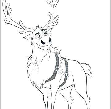 Frozen 2 Sven la renna da colorare - Cartoni animati