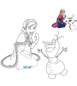 Colora Anna e Olaf