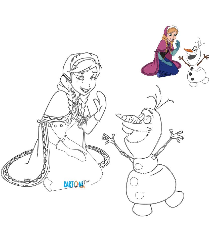 Colora anna e olaf cartoni animati for Cartoni animati da stampare e colorare