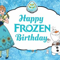 Happy Frozen Birthday - Happy birthday