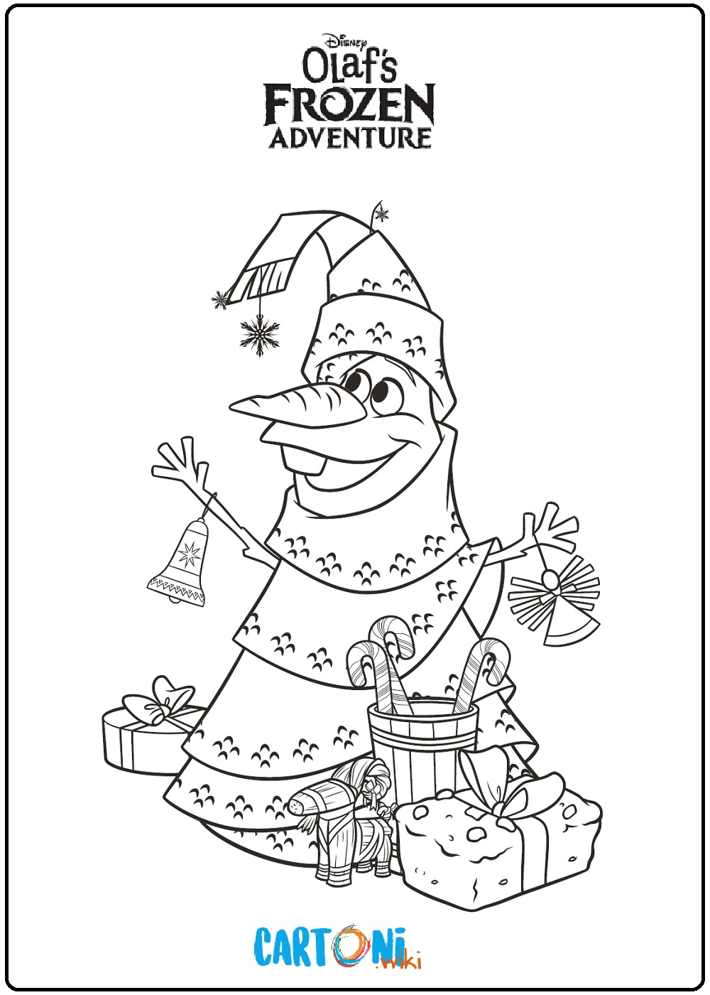 Frozen Le Avventure Di Olaf Disegni Da Colorare Cartoni Animati