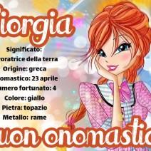 Giorgia buon onomastico - Giorgia