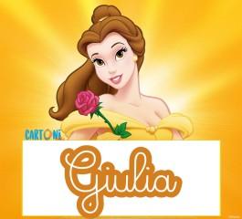 Giulia etichette Disney La bella e la bestia