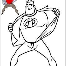 Gli incredibili da colorare disegno di Mr. Incredibles - Disegni da colorare